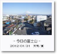 - 今日の富士山 - 2012年1月31日