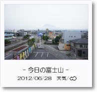 - 今日の富士山 - 2012年6月28日