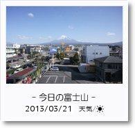- 今日の富士山 - 2013年3月21日